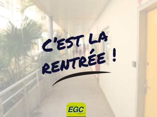 Rentrée EGC 2018!