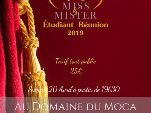MISS & MISTER ETUDIANT REUNION – 20 avril 2019