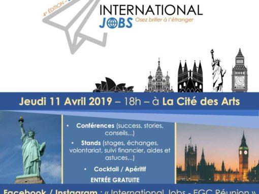 INTERNATIONAL JOBS- Business Night 11 avril 2019 à la Cité des Arts